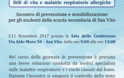Giornata di prevenzione e sensibilizzazione sulle malattie respiratorie nel comune di San Vito